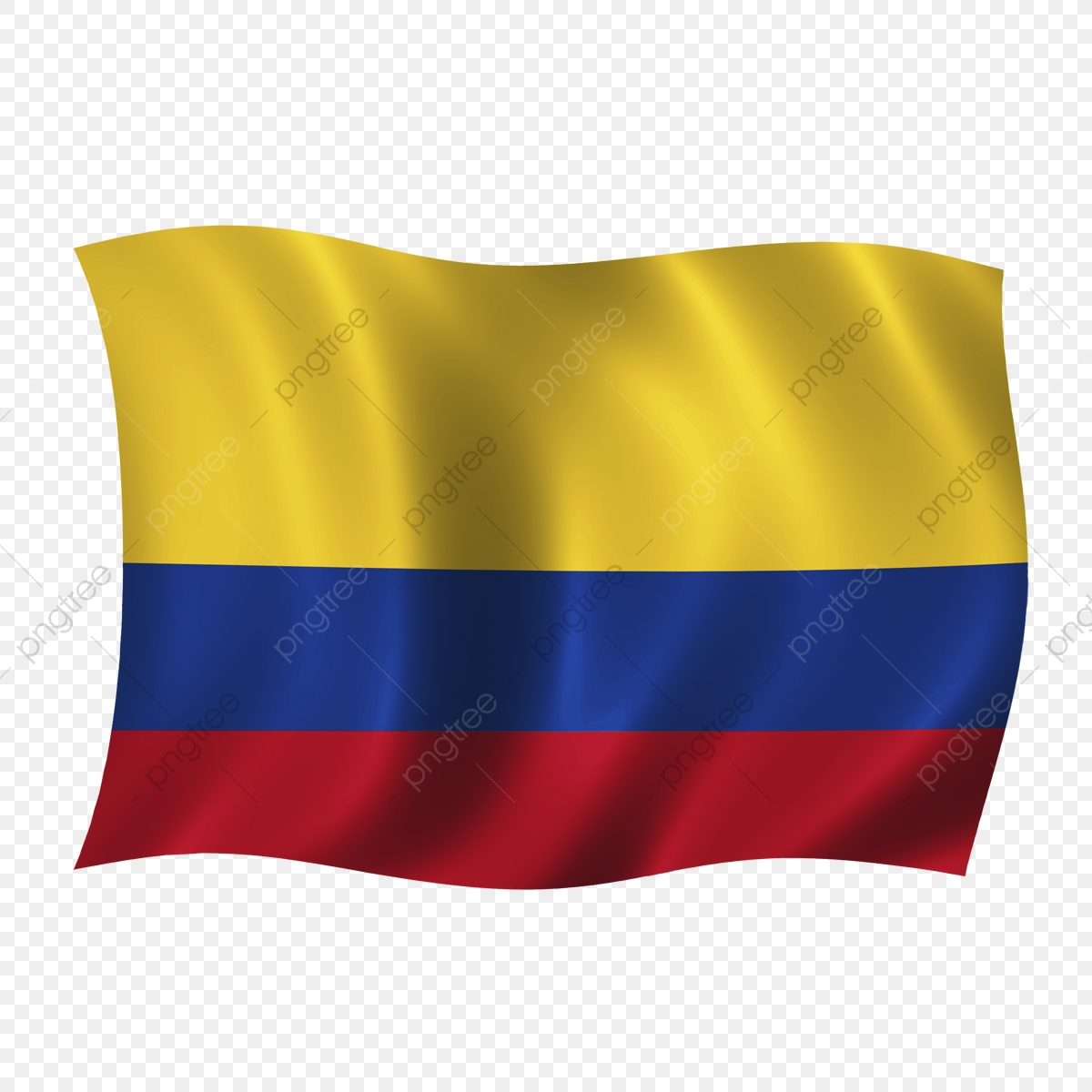 Colombia Wave Flag, Colombia, Colombian Flag, Colombia Flag PNG.