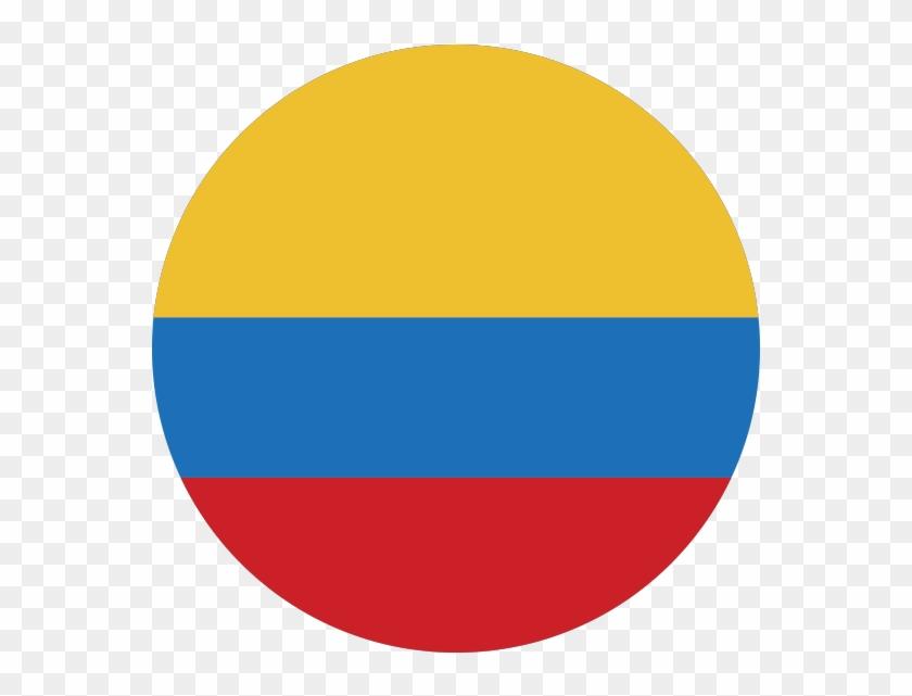 Ícono Con Bandera De Colombia.
