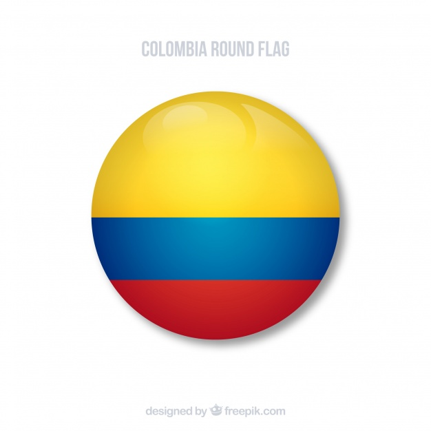Bandera redonda de colombia.