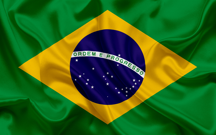 Descargar fondos de pantalla La bandera de brasil, Brasil, América.
