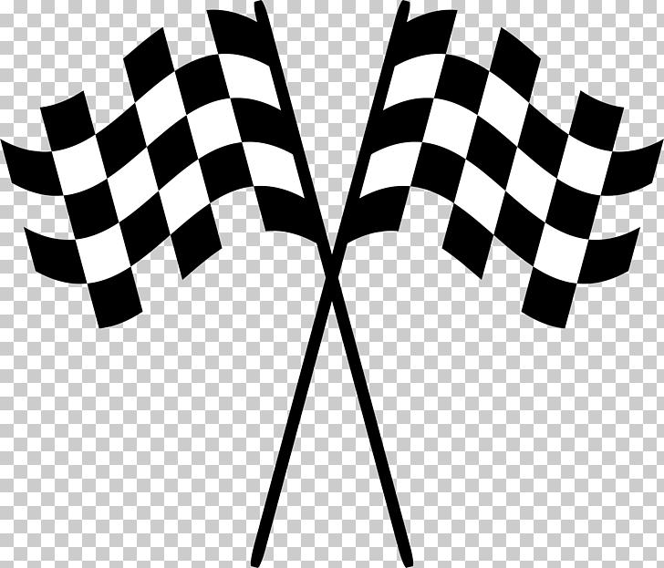 Bandera a cuadros en blanco y negro, banderas de carreras.