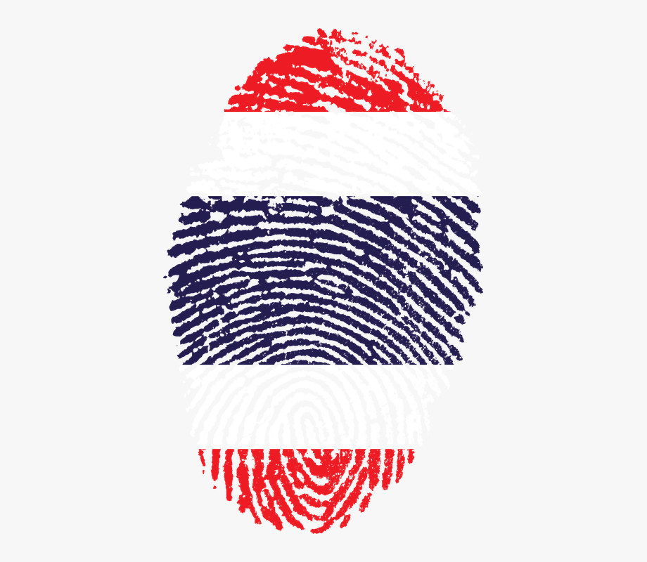 Thailand, Flag, Fingerprint, Country.