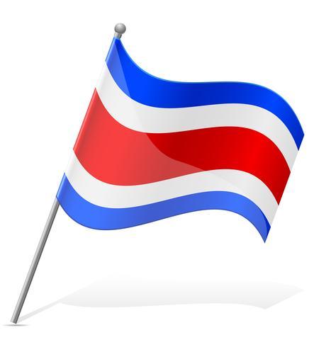 flag of Costa Rica vector illustration.