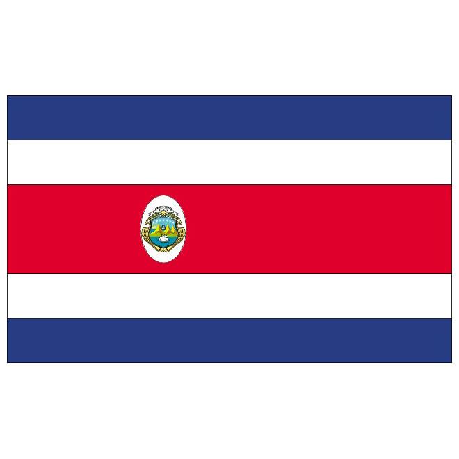 Costa Rica flag vector.