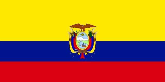 Ecuador Bandera Nacional.