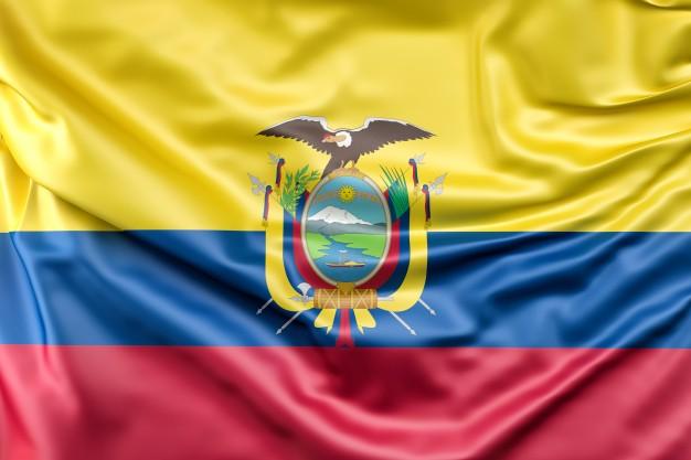 Bandera del ecuador.