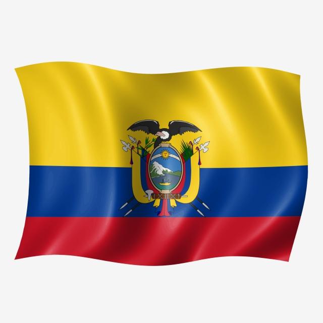 Ecuador Waving Flag, Flying Flag, Flying, Wave PNG Transparent.