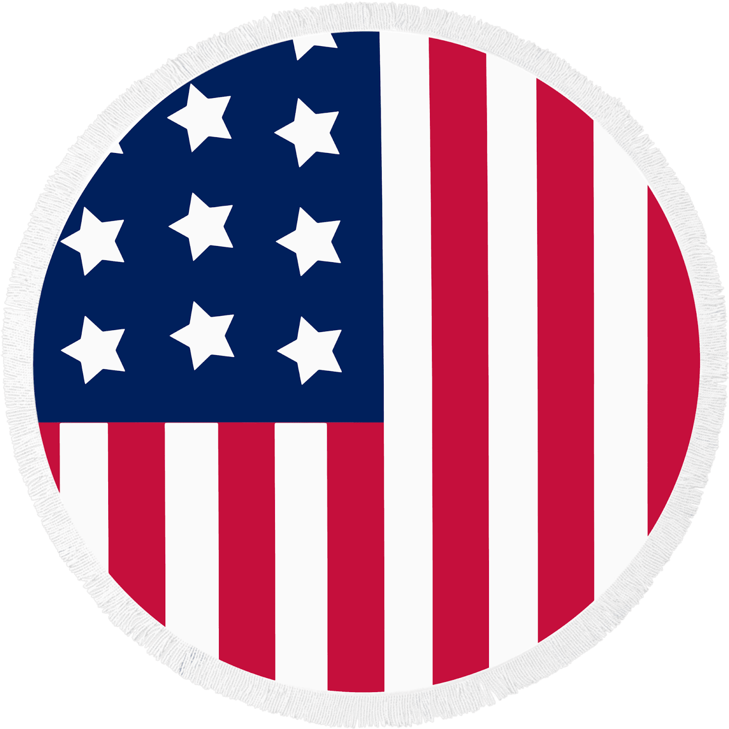 Round Beach Towel American Flag Patriot By Mimosa Inc.