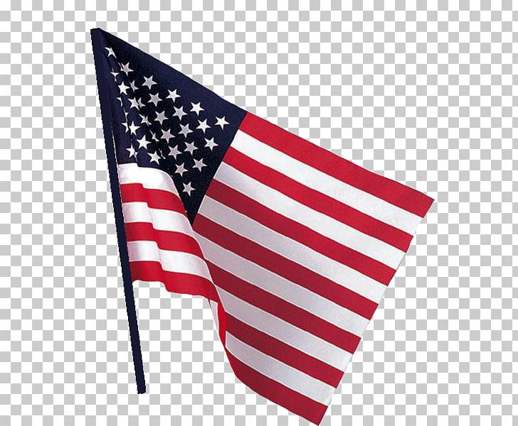 Bandera de los Estados Unidos. Bandera nacional. Valle. Asta.