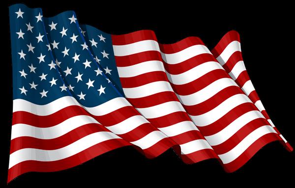 Bandera Estados Unidos PNG transparente.