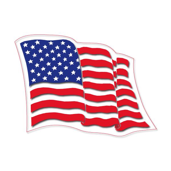 Bandera Estados Unidos Ondeando Png Vector, Clipart, PSD.