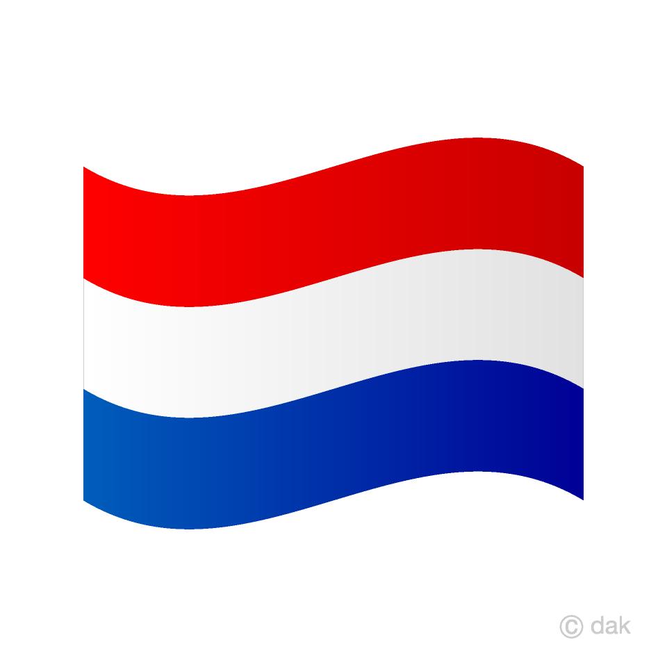 Free Waving Netherlands Flag Image|Illustoon.