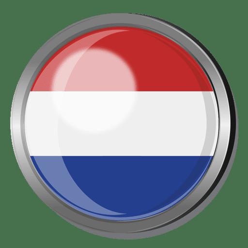 Insignia de la bandera de Holanda.