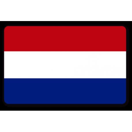 pegatina bandera francia rectangular despintada.