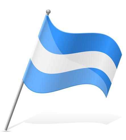 flag of Nicaragua vector illustration.