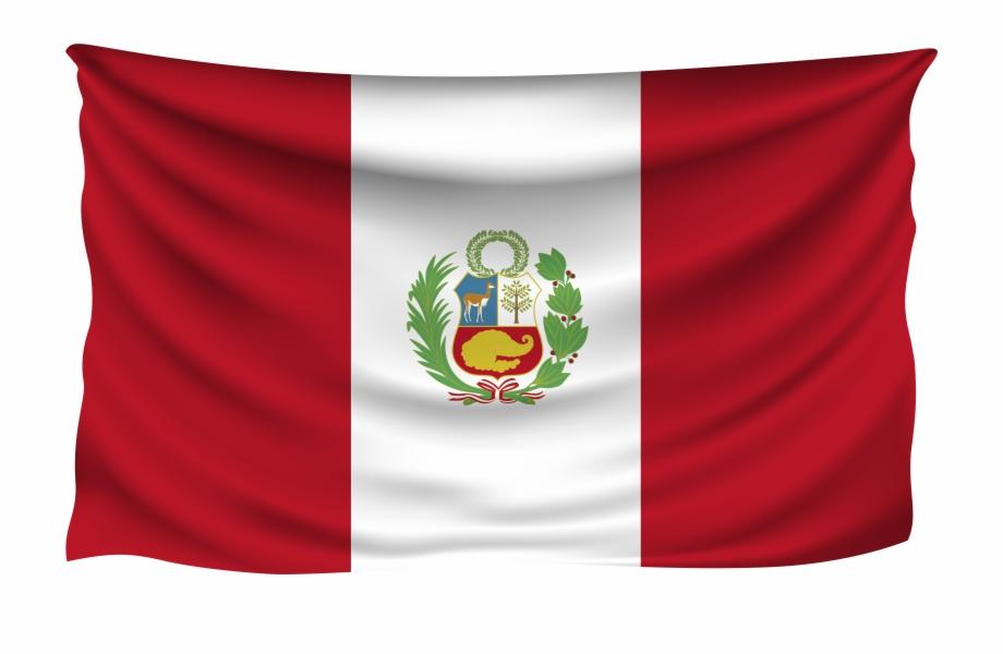 Peru Wrinkled Flag Free PNG Images & Clipart Download #5027272.