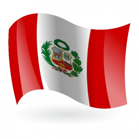 Bandera de la República del Perú.