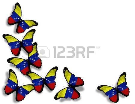 bandera de venezuela: Mariposas de bandera venezolana.