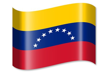 Flag of Venezuela Clipart Image.
