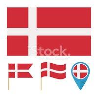 Bandera DE Dinamarca vectores en stock.