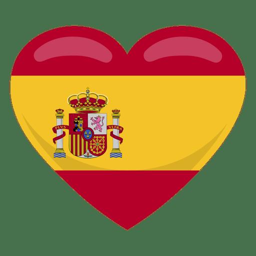 Bandera del corazon de españa.