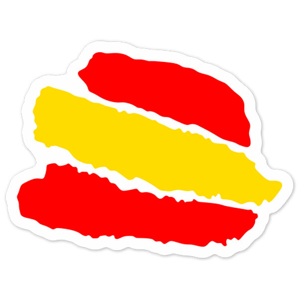 Adhesivo Bandera Trazos España.