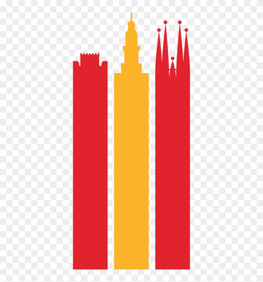 Vinilo Bandera De España Monumentos , Png Download.