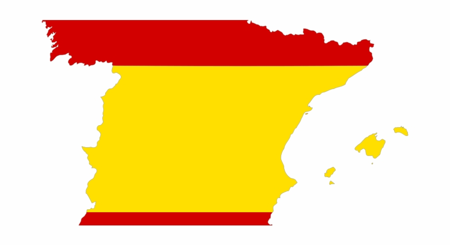 Spain Flag On Map Free PNG Images & Clipart Download #5005966.