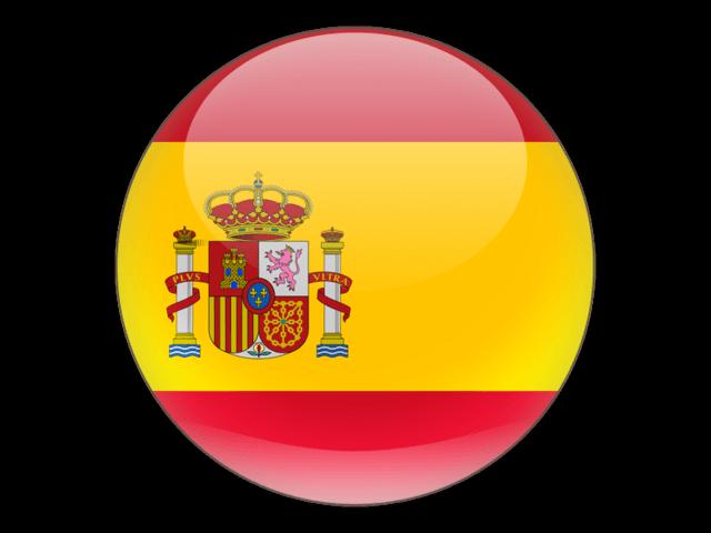 Bandera España Icono PNG transparente.