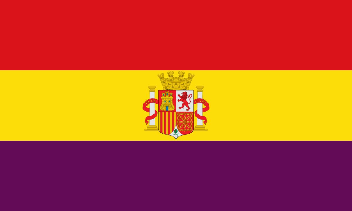 Bandera de la Segona República Espanyola.