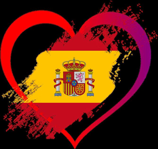 HD Bandera, Corazón, Amor, España, Nación, Bandera Estatal.