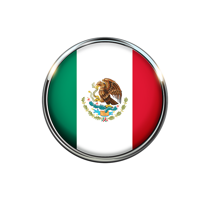 Mexico Bandera Circulo.