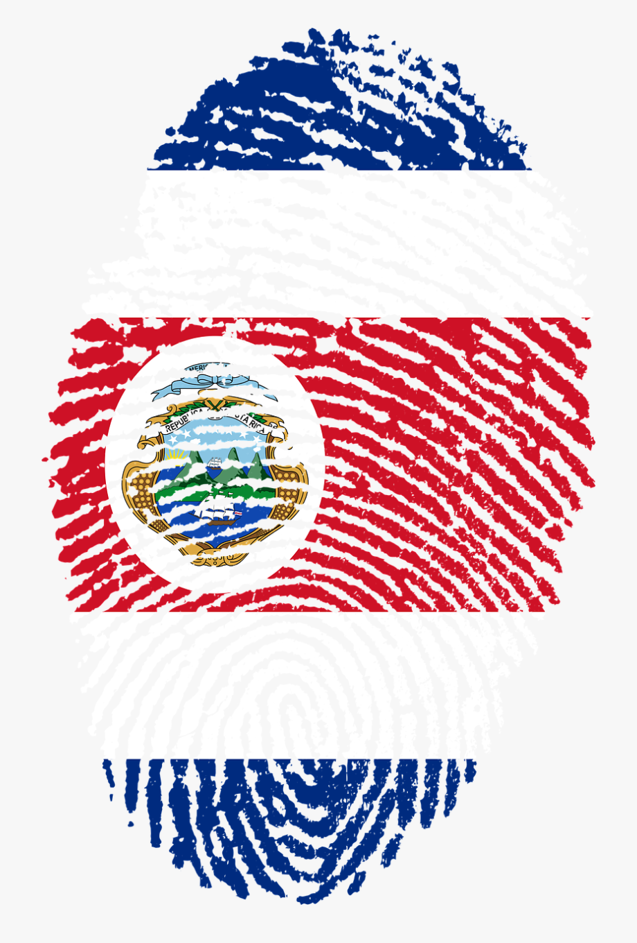 Costa Rica Flag Png.