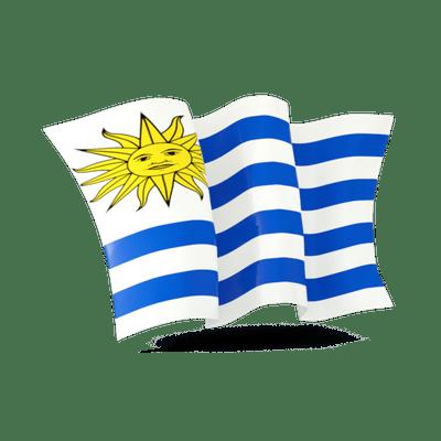 Uruguay Flag transparent PNG.