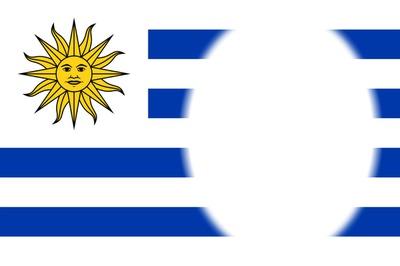Photo montage Bandera de Uruguay.