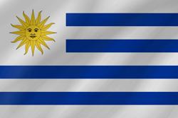 Uruguay flag vector.