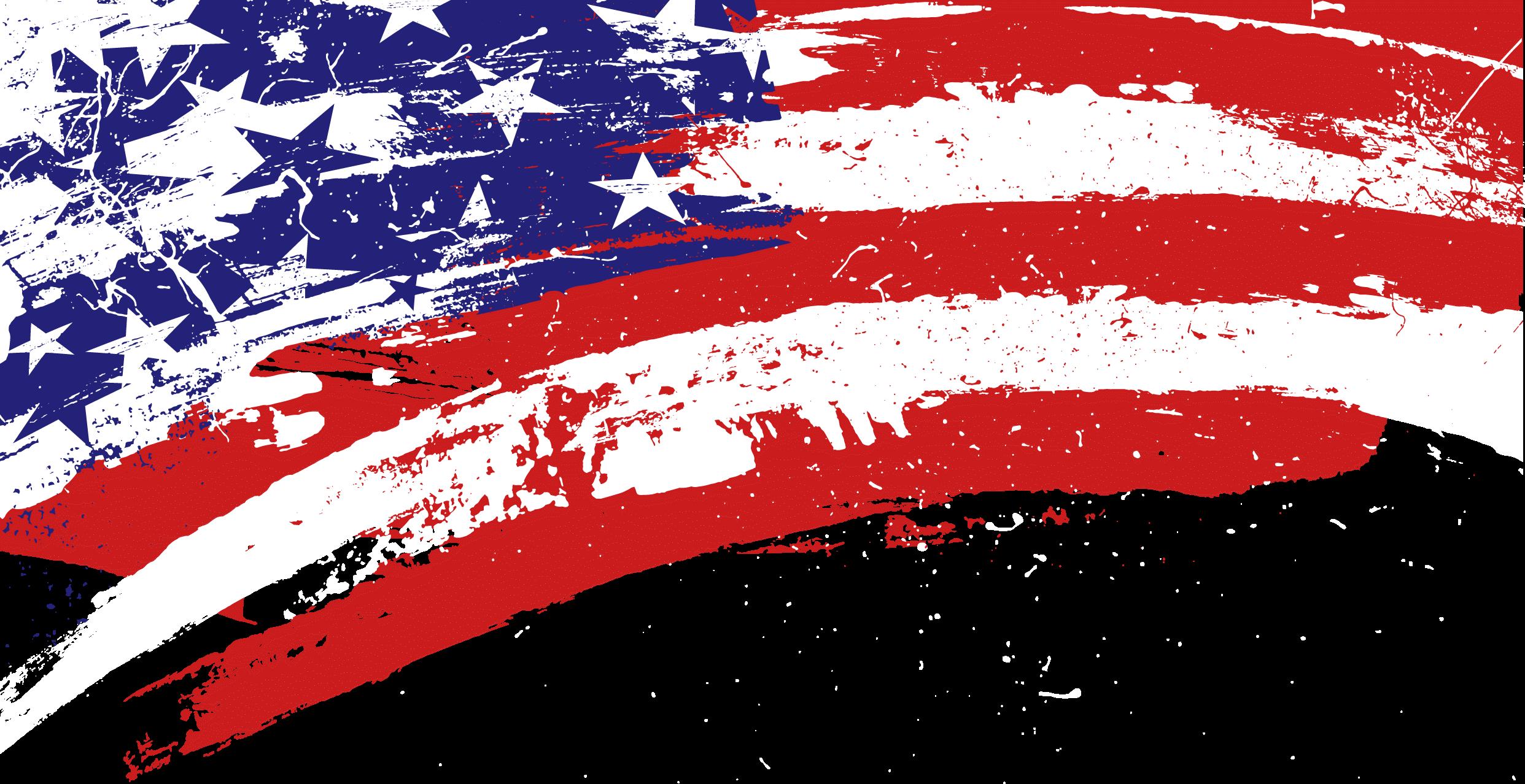 Corner Scratch American Flag transparent PNG.