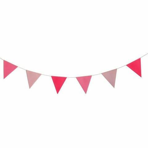 Guirnalda banderines rosa.