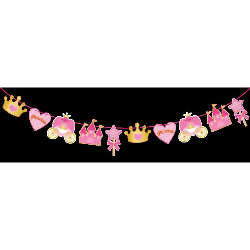 banderines para fiestas princess.