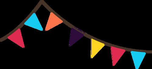 banderines vector.