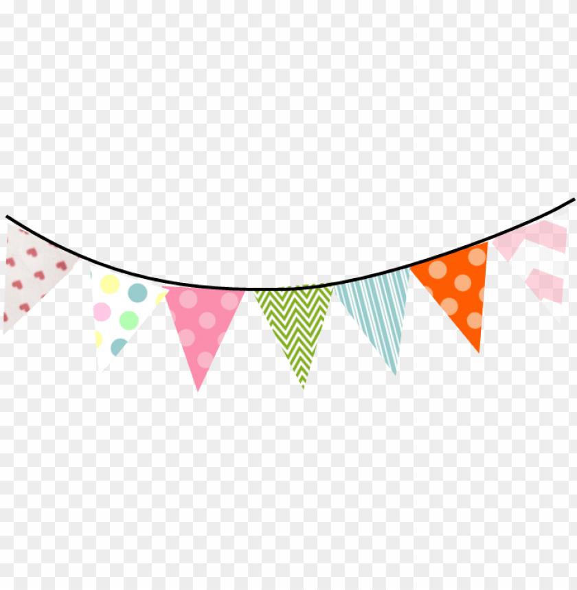 banderines de cumpleaños PNG image with transparent background.