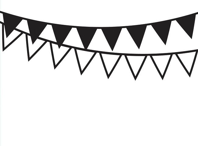 Banderitas clipart black and white Transparent pictures on F.