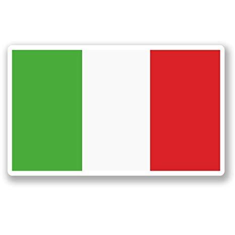 2 x 15cm/150mm Italia Bandiera Italiana adesivo vinile adesivo da viaggio  per portatile auto bagagli iPad segno divertimento #5268.