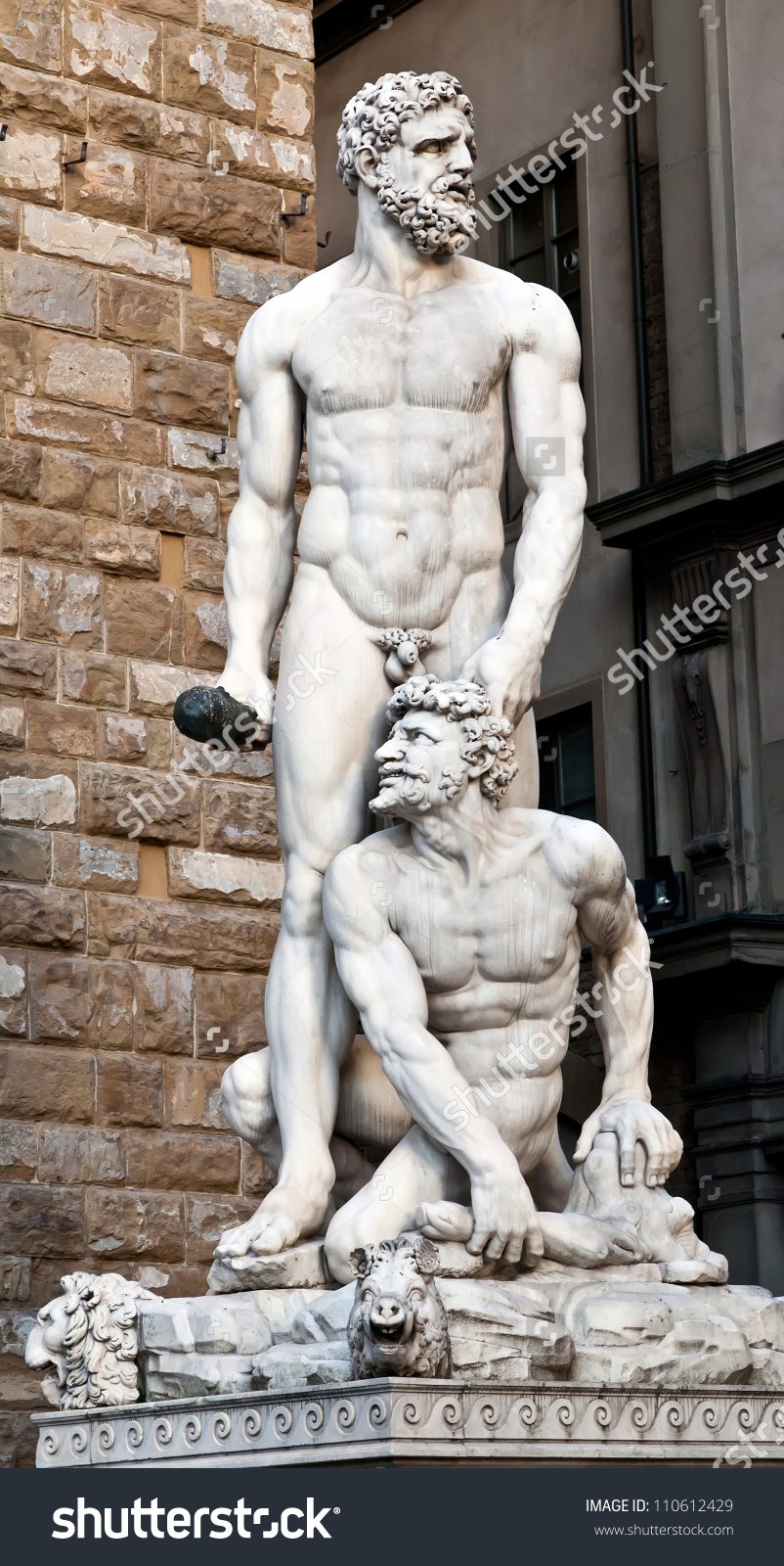 Hercules Cacus By Florentine Artist Baccio Stock Photo 110612429.