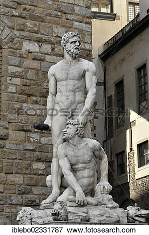 "Picture of ""Hercules and Cacus, statue by Baccio Bandinelli."
