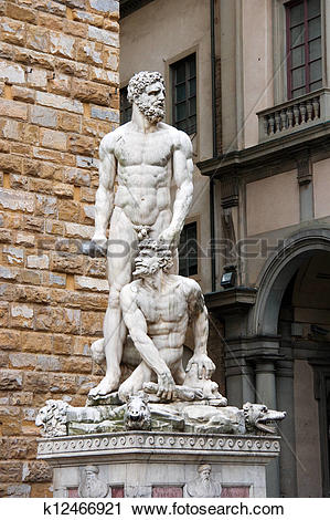 Stock Photography of Statue of Hercules and Cacus k12466921.