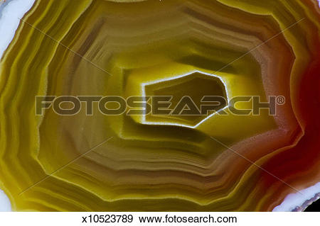 Stock Photograph of Center Banding of Laguna Agate, Mexico.