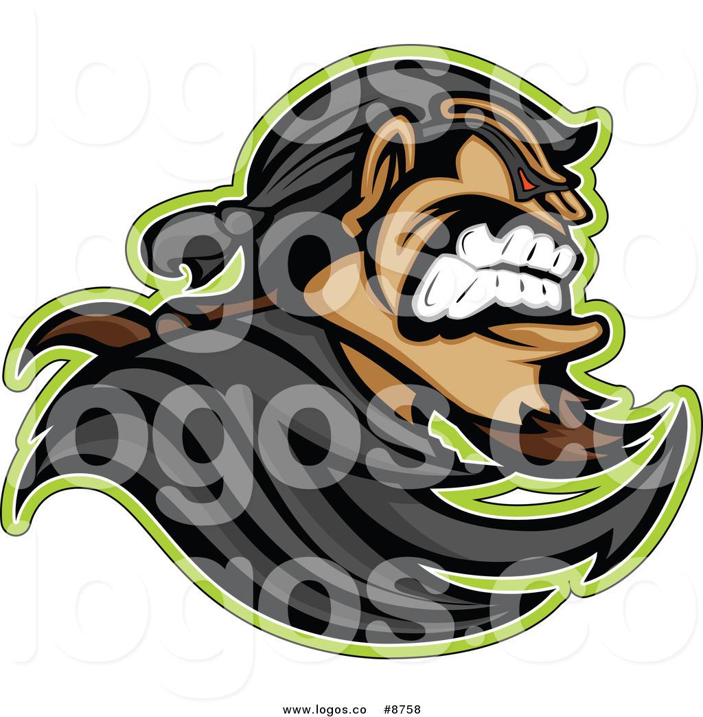 Royalty Free Clip Art Vector Tough Bandit in Profile Logo by.