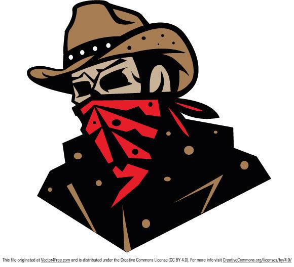 Free Cowboy Bandit Vector.