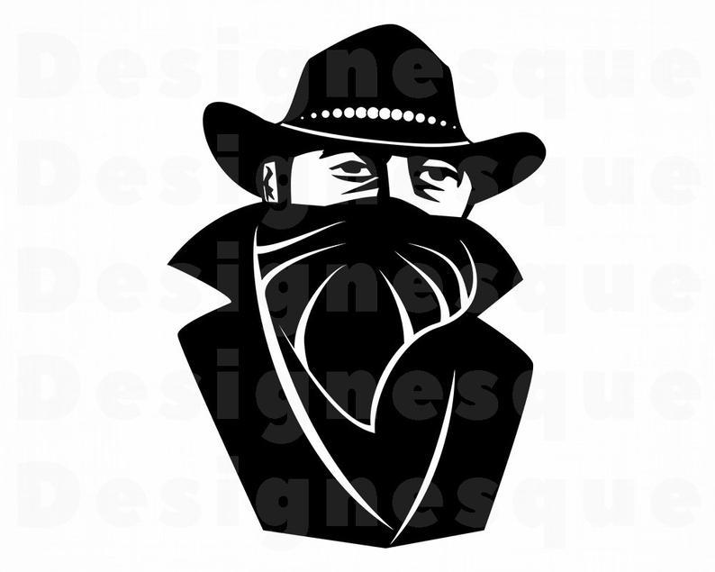 Bandit SVG, Western Svg, Criminal Svg, Bandit Clipart, Bandit Files for  Cricut, Bandit Cut Files For Silhouette, Bandit Dxf, Png, Eps, Svg.